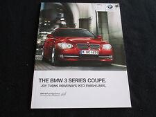 2011 BMW 3 Series Coupe E93 Catalog 328i 328xi 335i 335xi 335is xDrive Brochure
