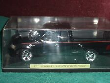 ERTL 2000 HARLEY DAVIDSON FORD F150 TRUCK 1/18 w DISPLAY CASE