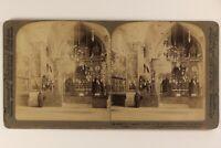 Gerusalemme Eglise Armeno Armenia Foto Stereo Vintage Albumina 1897
