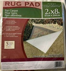 "Rug Pad For Carpet 20"" x 92"" Non Slip Non Stain  Brand New Sealed"