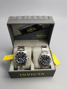NEW INVICTA SET PRO DIVER Men's & ladies Model 33258 and 33252 Watch Quartz 200M