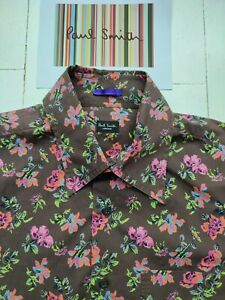 PAUL SMITH FLORAL SHIRT - Size L / 15.5 inch Collar - Absolutely SUPERB !!!