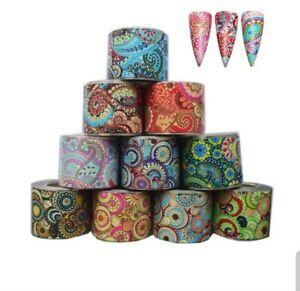 """""""Mandala"""" - transfer nail art foils set 10 pcs"""