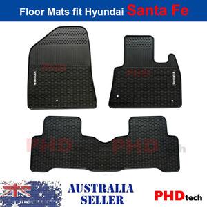 Premium Quality All Weather Rubber Car Floor Mats HYUNDAI SANTA FE  2012~18 DM
