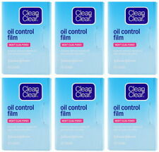 6 x Clean and & Clear Oil Control Film Blotting Paper Face 360 sheets Free Ship