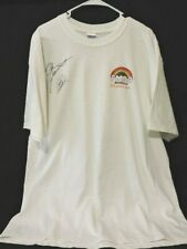DALE JARRETT HOF & CARL EDWARDS NASCAR HAND SIGNED 2006 FM 93 T-SHIRT XL NEW COA