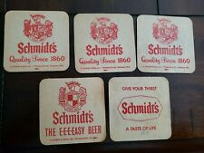5 Vintage Beer Bar Coaster ~ SCHMIDT'S Quality Since 1860; Philadelphia
