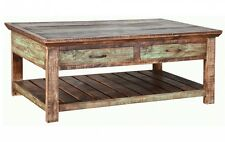 Quality Rustic Cabana Coffee Table, Cocktail table Multi Colored