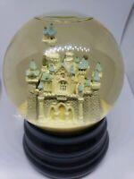 Rare DISNEY Princess Musical Snow Globe Cinderella's Castle 'Wish Upon A Star