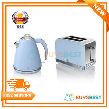 Swan 1.5 Litre Jug Kettle & 2-Slice Retro Toaster In Blue