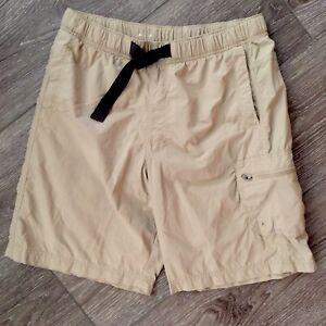COLUMBIA Palmerston Peak Cargo Shorts Swim Trunk Tan Men's Size Small AM4366