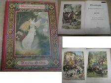Buch Weihnachten Grüße Godin Märchen Farbdrucke Stuttgart um 1910