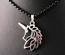 Silver Unicorn Head Pendant Necklace w/Free Jewelry Box and Shipping