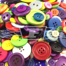 CRAFT BUTTONS - MULTI COLOURED, BLACK & WHITE - MIXED SIZES - METAL - PLASTIC -