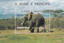 280888 / Fauna Tiere Block ** MNH S. Tome Elefant Nr. 35 ?