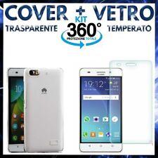 COVER CUSTODIA + PELLICOLA VETRO TEMPERATO HUAWEI ASCEND G PLAY MINI / HONOR 4C