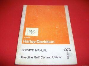 FACTORY 1963-73 HARLEY DAVIDSON GASOLINE GOLF CAR & UTILICAR SERVICE MANUAL