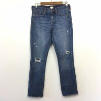 J Crew Women's Astor Wash Boyfriend Jeans Size 26 Stretch Ripped Denim