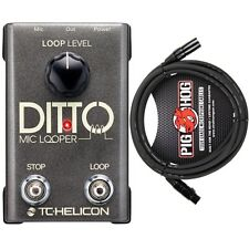 TC Helicon Ditto Mic Looper Electronic Vocal Instrument Effect FX Pedal & Cable