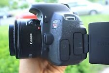 MINT Canon EOS Rebel T5i 18MP DSLR Camera EF 50mm IS II Lens. Freeshipping!