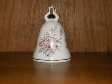 Kronach ~ Pink & Gold Floral & Birds ~ West Germany ~ Porcelain Bell