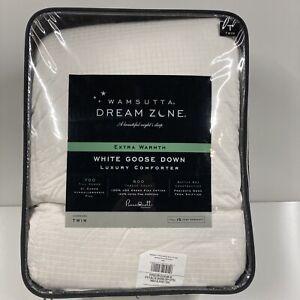 WAMSUTTA dream zone white goose down comforter OVERSIZED TWIN extra warmth