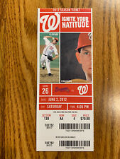 Andrelton Simmons MLB DEBUT Season Ticket not Stub 6/2/2012 Braves Angels Twins