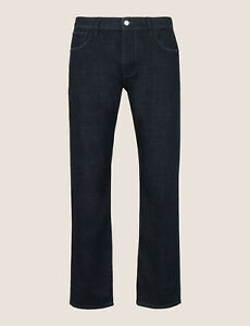 A|X Armani Exchange Classic Relaxed Straight Indigo Jeans Size 36S/C