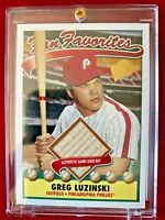 2003 Topps Fan Favorites - PHILLIES GREG LUZINSKI Authentic Game Used Bat