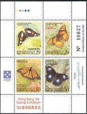 Micronesia 1994 HK StampEx/Butterflies/Insects/Nature/Wildlife 4v m/s (s1820)