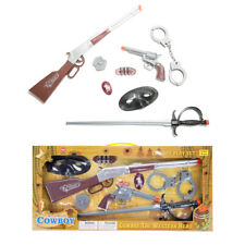 Kids Toy Guns Wild Western Cowboy Revolver Pistols &Repeater Rifle Set Xmas Gift