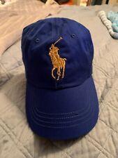 New!!!  Polo Ralph Lauren Blue Adjustable Hat Cap BIG PONY #3  Blue Retail $45