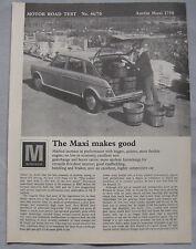 1970 Austin Maxi 1750 Original Motor magazine Road test