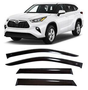 For Toyota Highlander U70 IV 2020- Window Visors Sun Rain Guard Vent Deflectors