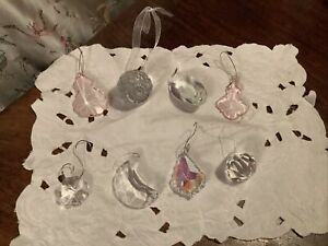 Bundle Crystal Glass Hanging Bauble Christmas Tree Decorations X 8