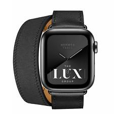 New Apple Watch Hermès Hermes Series 5 40mm Space Black Noir Double Tour LTE GPS