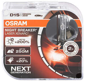2x D1S Osram Night Breaker Laser headlight Xenon Xenarc Bulb 66140XNL Car+200 AB
