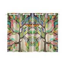 Tree of Life Painting Kitchen Curtain 26X39 IN (2 Piece) Fashion Custom Curtains