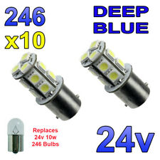 10 x LED BLU 24v BA15s 246 R10W 13 SMD Targa Lampadine Interni CAMION MEZZI PESANTI