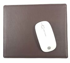 FULL GRAIN GENUINE LEATHER BROWN NONSLIP HANDMADE MOUSE PAD by OZCRAFT