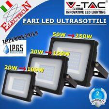 V-TAC VTAC FARO LED SMD NERO 20W 30W 50W 100W ESTERNO IP65 SLIM ULTRASOTTILE