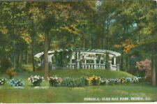 Peoria IL The Pergola in Glen Oak Park 1915