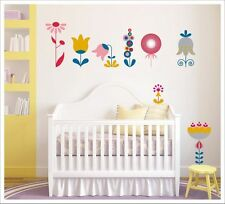 Kids Removable Vinyl Wall Decal Stickers - Flowers for Girls SA-12-047