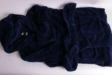 New Pb Pottery Barn Teen Short Classic short plush bath robe navy hooded