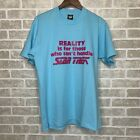 Vintage '80s 'Reality Is For Those Who Can't Handle STAR TREK' Funny T-Shirt - L