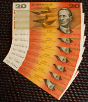 Australia 1991 Fraser Cole $20 Banknote With 'E' - PIL's