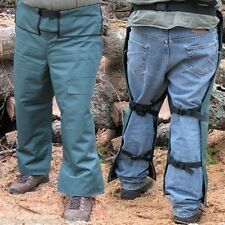 """Chain Saw Safety Chaps,Apron Style,Green,OSHA Approved, 35"""" Leg Length,Free Ship"""