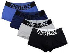 Paquete de 4 Fabio Farini Boxer Slim Fit Hombre 95% Algodón