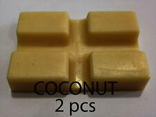 COCONUT HOT WAX BLOCK FOR WAX WARMER HEATER WAXING STRIP POT WAX BLOCK 2x40g