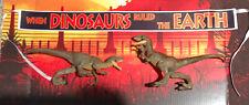 Jurassic Park World Legacy Escape Isla Nublar VELOCIRAPTOR + Banner Dominion Lot